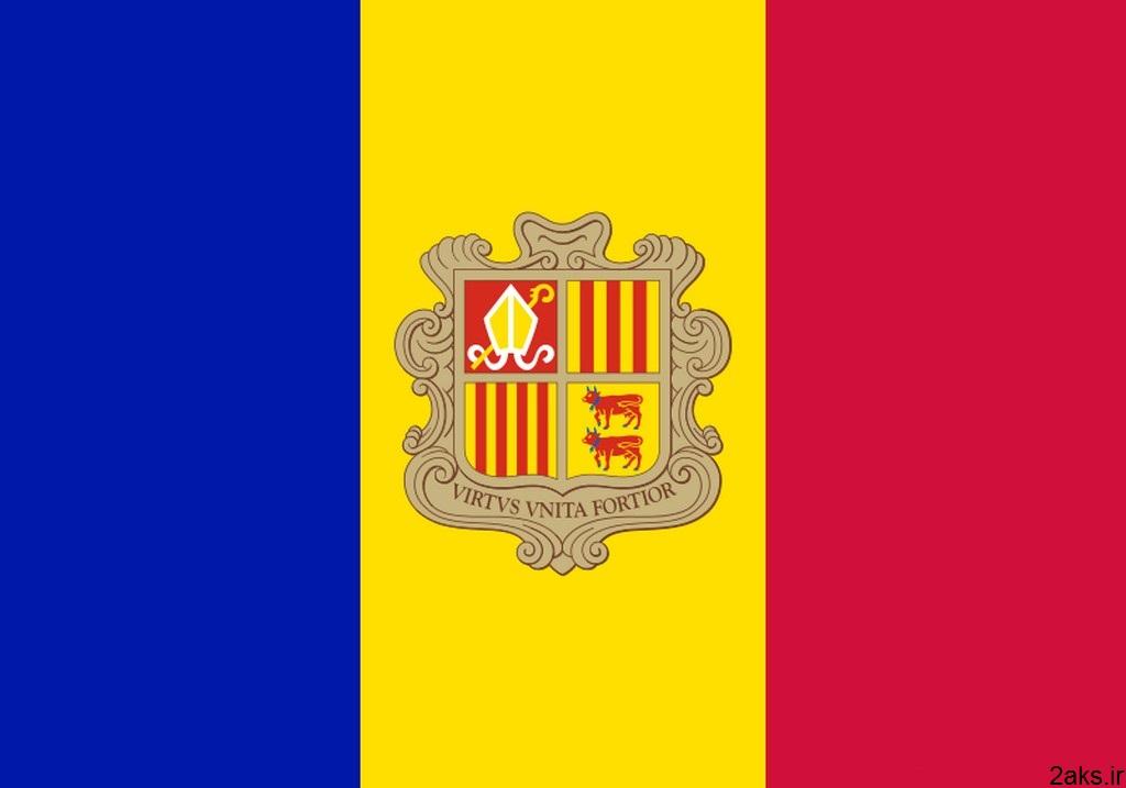 پرچم کشور آندورا