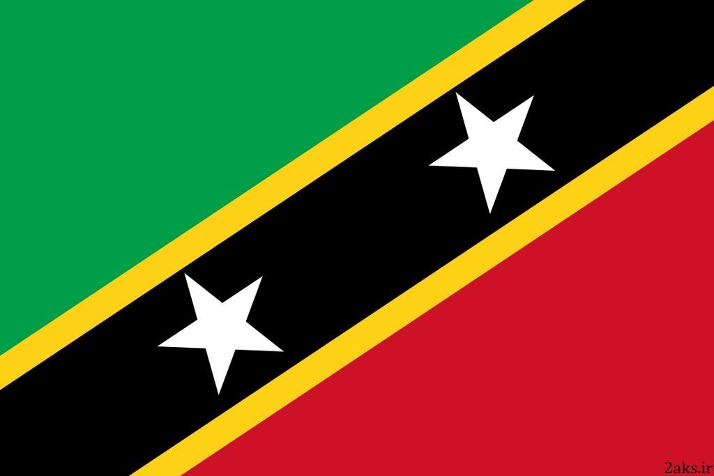 پرچم کشور سنت کیتس و نویس