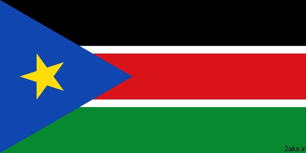 پرچم کشور سودان جنوبی