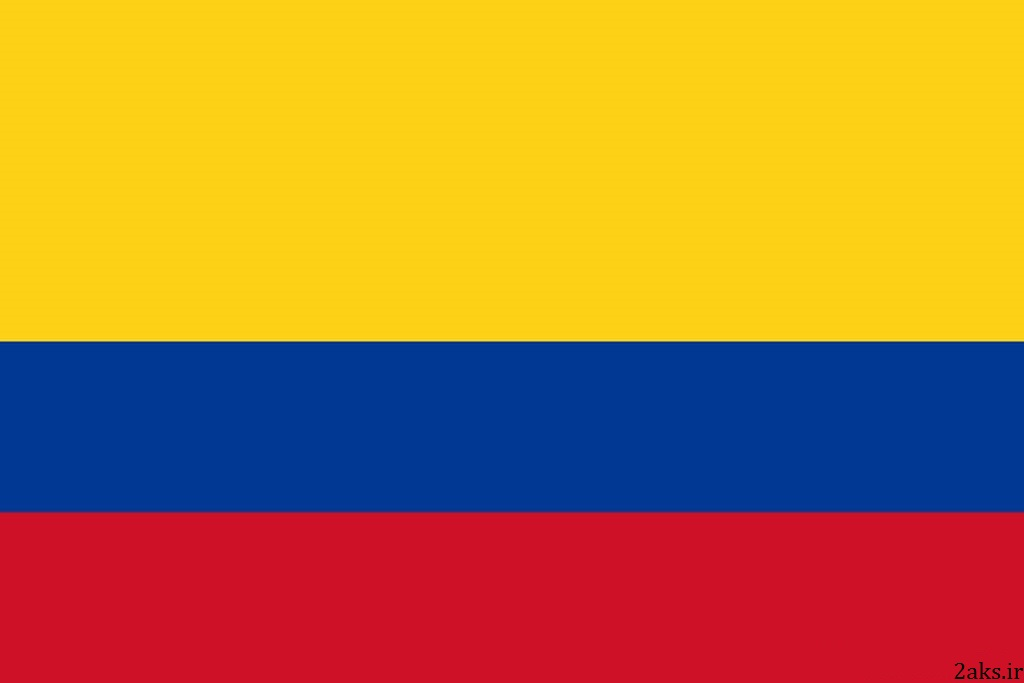 عکس پرچم کشور کلمبیا