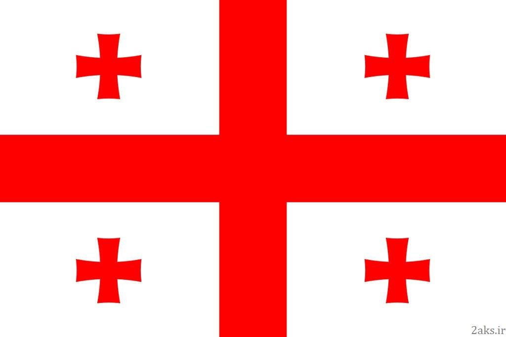 پرچم کشور گرجستان