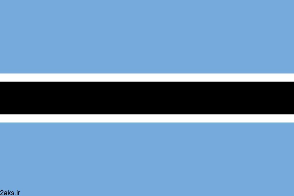 پرچم کشور بوتسوانا