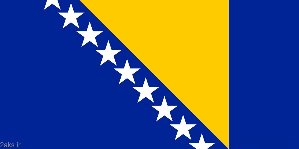 پرچم کشور بوسنی و هرزگوین