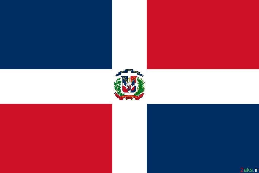 پرچم کشور جمهوری دومینیکن