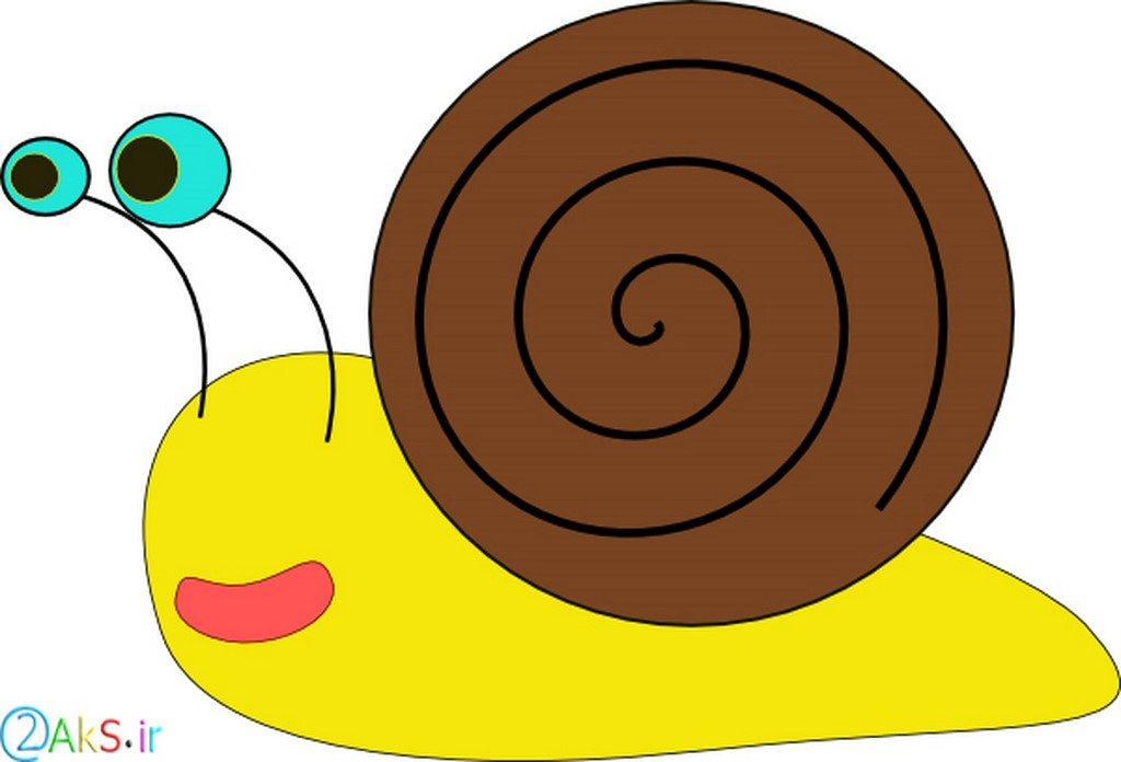 عکس کارتونی حلزون