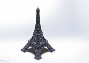 عکس انیمیشنی برج ایفل