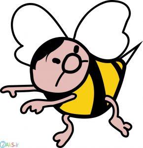 عکس کارتونی زنبور عسل
