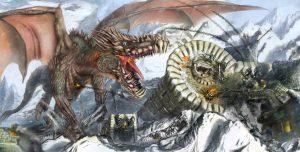 والپیپر نقاشی اژدها