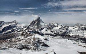 والپیپر کوهستان برف