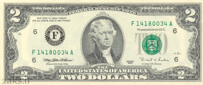 عکس روی 2 دلاری آمریکا